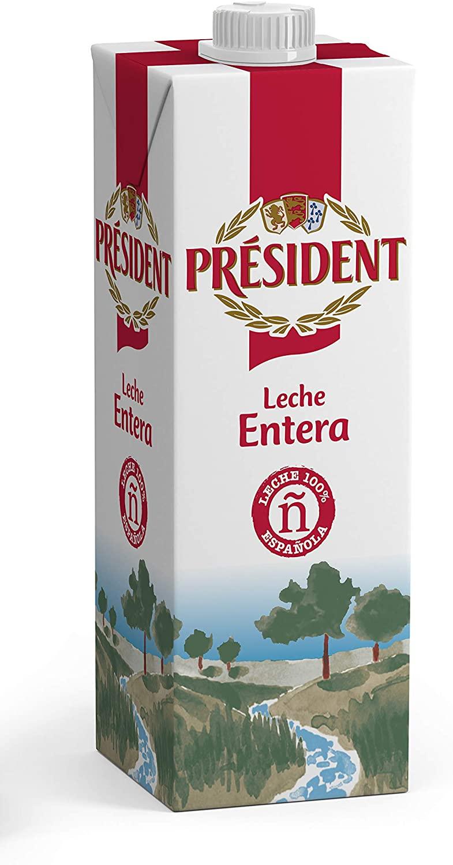 Leche entera President a precio de marca blanca. (Pack de 6 botellas) Pantry