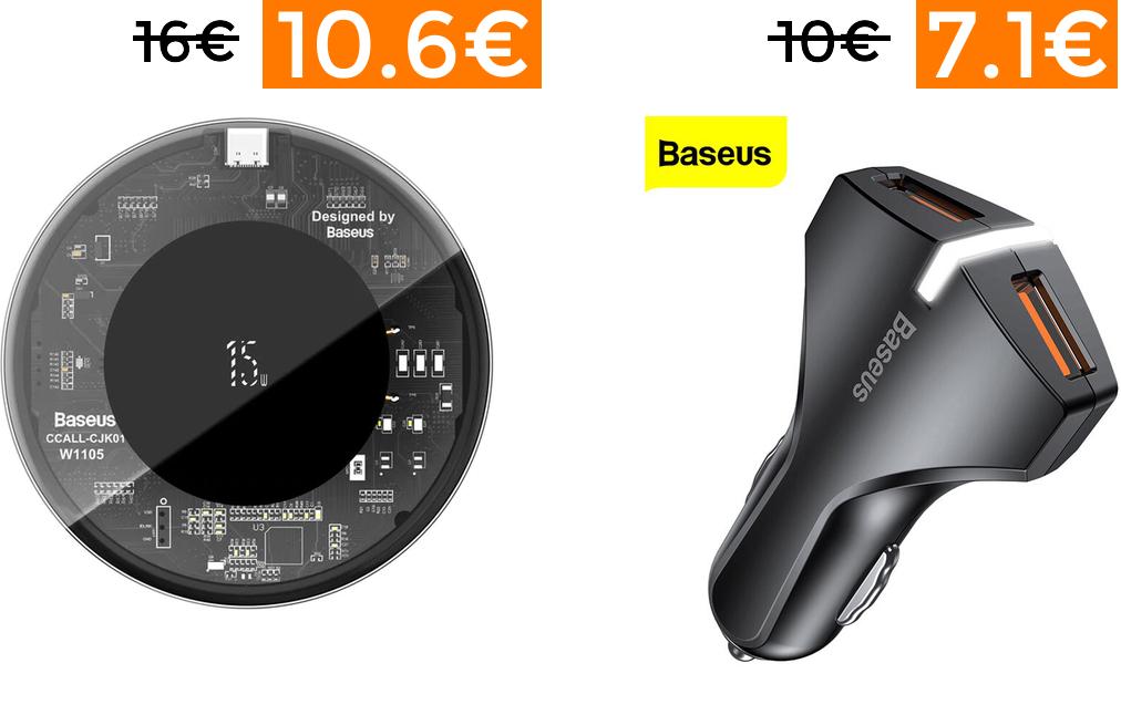Preciazos en una selección de productos de Baseus