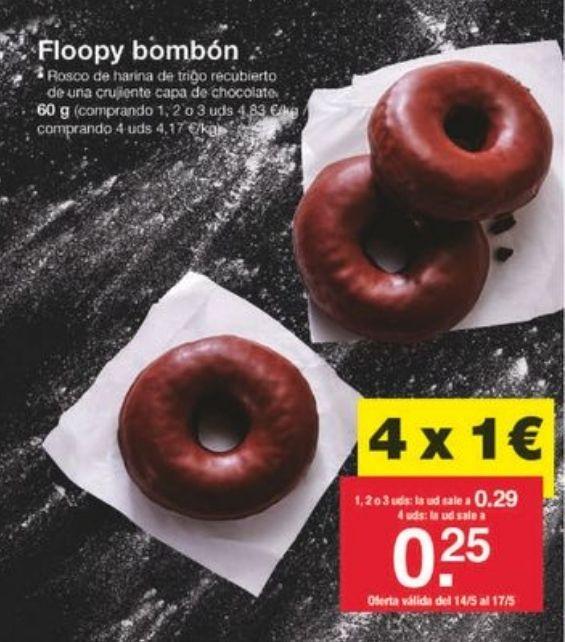 4 donuts chocolate x 1€