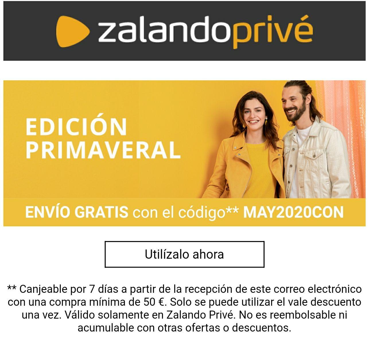Código para envío gratis en ZalandoPrivé