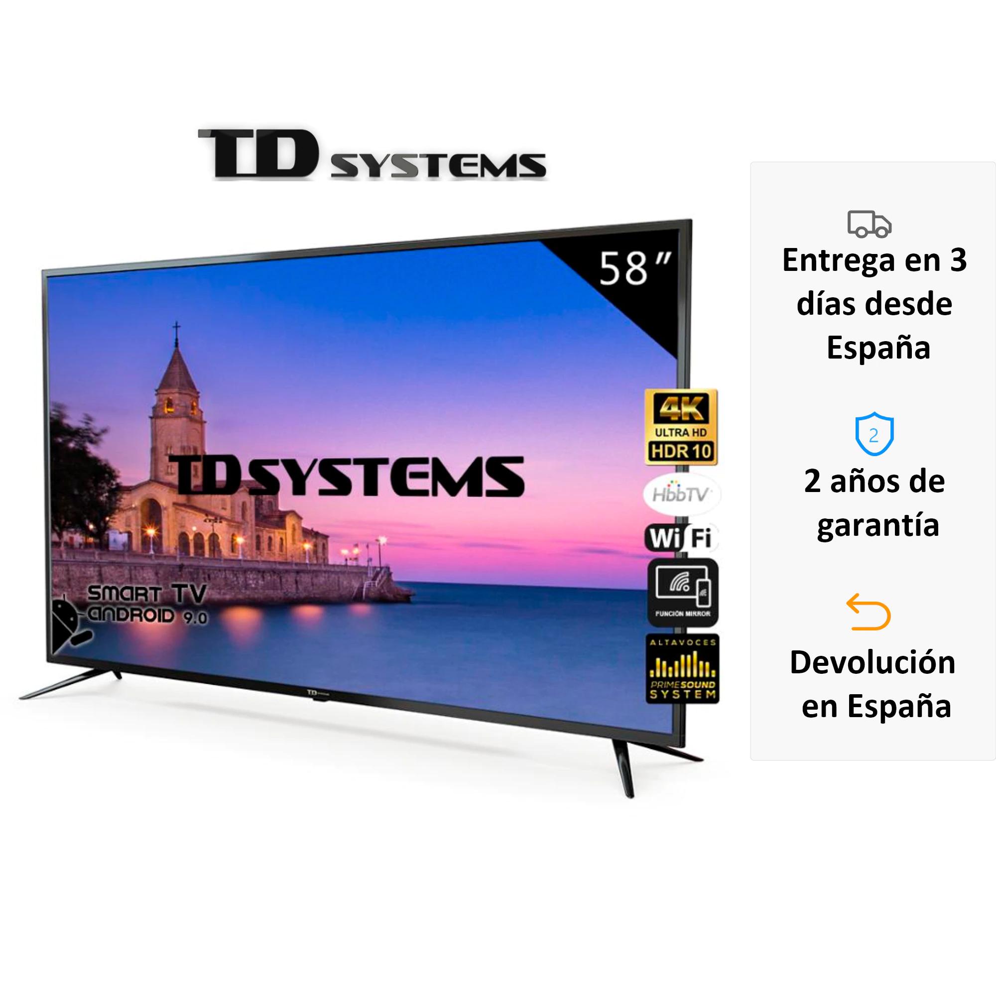 "TD Systems K58DLJ10US de 58"" 4K desde España"