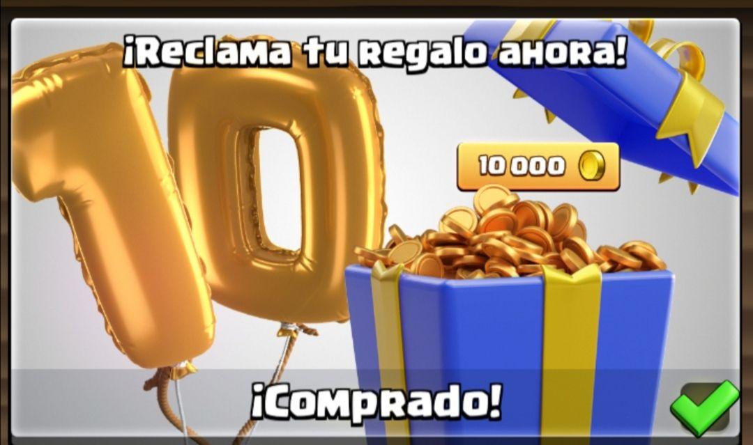 10.000 oro gratis en Clash Royale