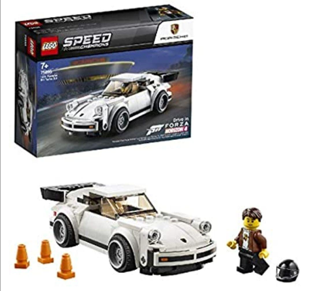 LEGO Speed champion - 1974 Porsche 911 turbo 3.0, Set de Contrucción del Clásico Deportivo, Coche de Juguete Blanco, Novedad 2019