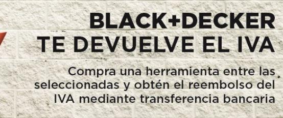 Black+decker te devuelve el Iva.