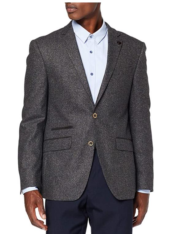 TALLA 50 - Daniel Hechter Jacket Modern, Chaqueta de Traje para Hombre