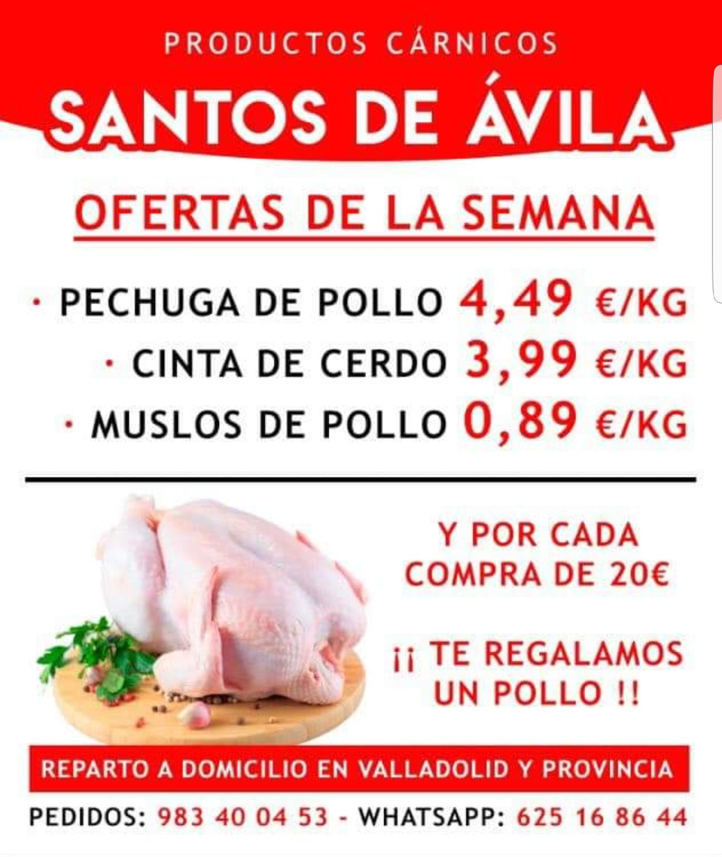 Muslos de pollo 0.89€ Kg y más...