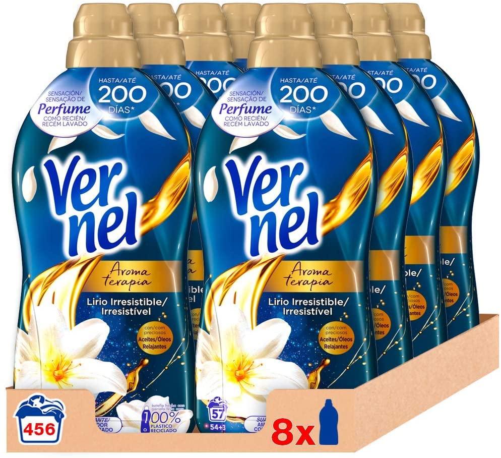 Vernel Suavizante Aroma terapia 456 lavados 17,9€ (17€ compra recurrente)