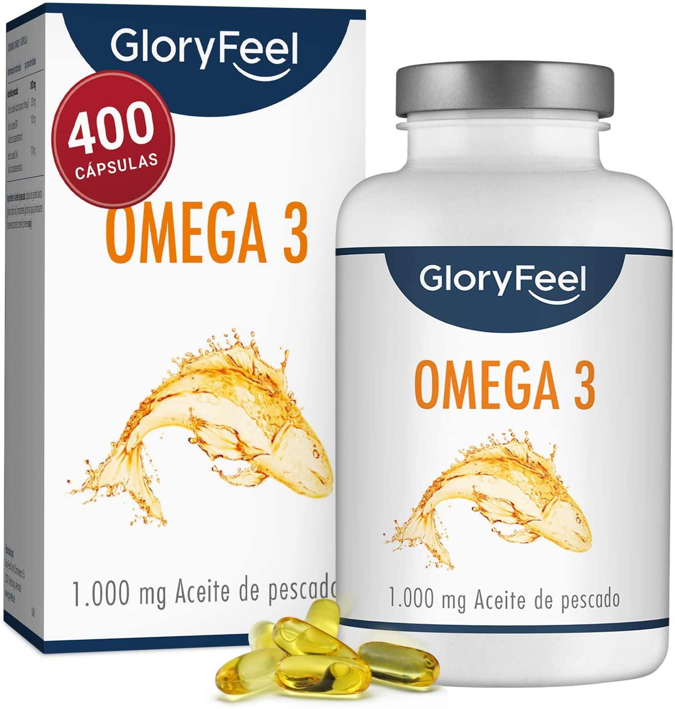 Omega 3 - 400 Cápsulas Aceite de Pescado 1000 mg
