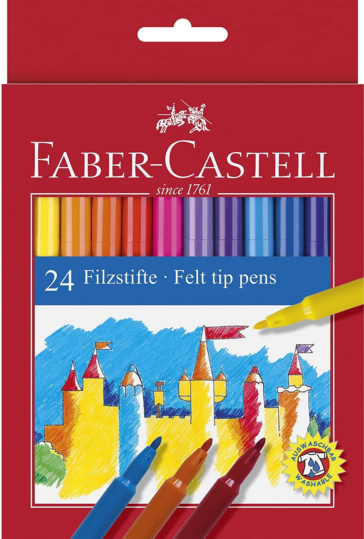 Caja de 24 rotuladores Faber Castell de punta de fibra