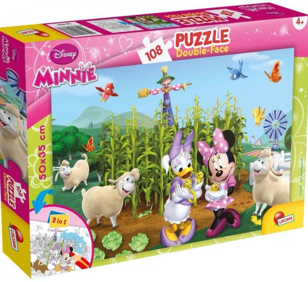 Puzzle Minnie 108 piezas con doble cara coloreable.
