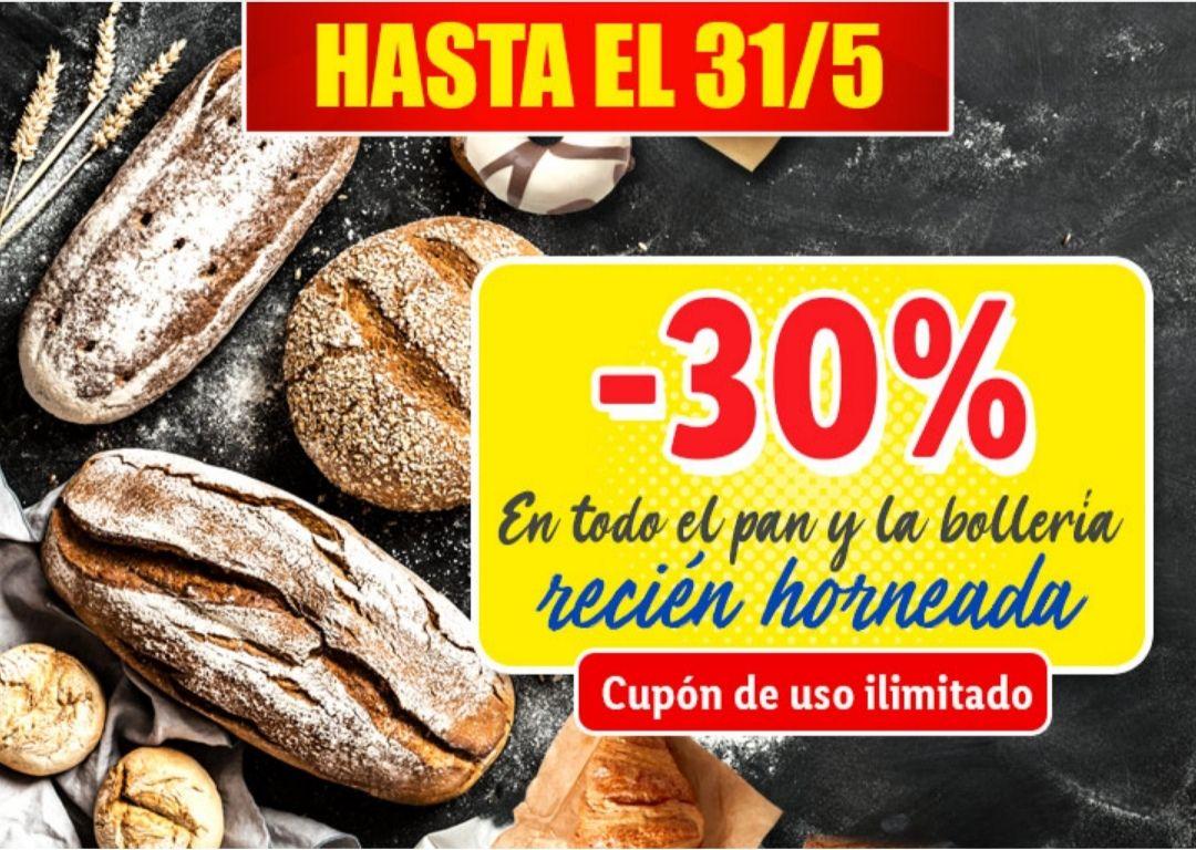 -30% en todo el pan y bollería recién horneada en Lidl