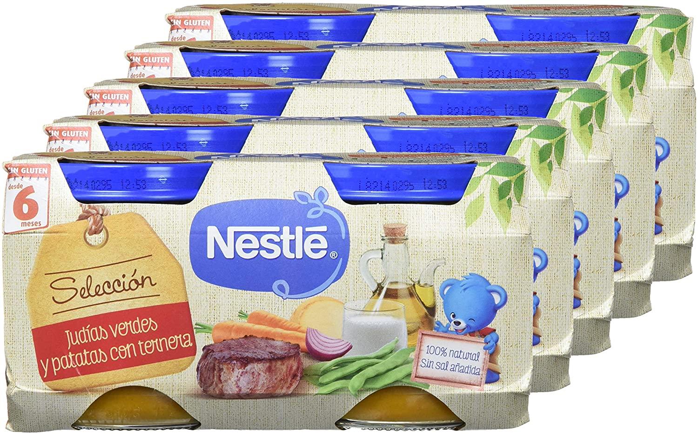 10 tarritos de Nestlé Naturnes - Selección Judías Verdes y Patatas con Ternera