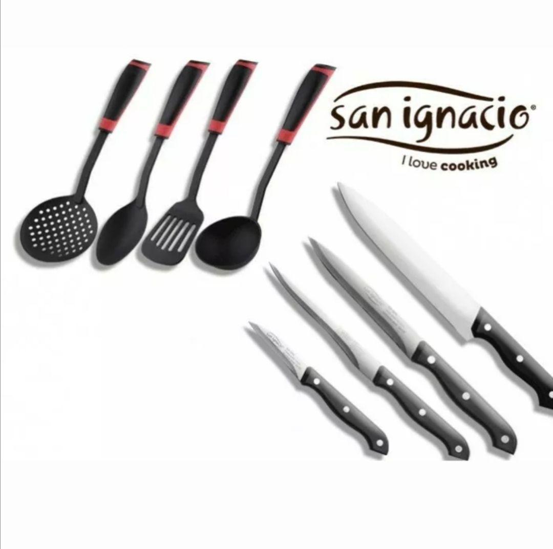 Pack San Ignacio Toledo: 4 utensilios de cocina y 4 cuchillos profesionales