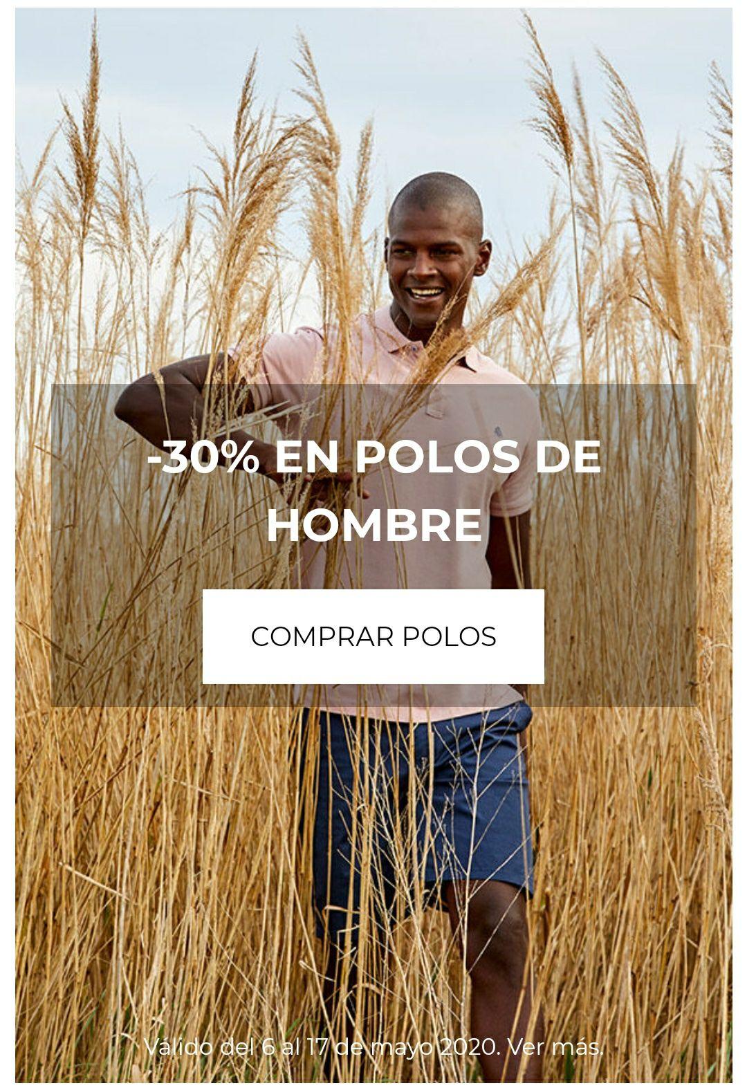 -30% EN POLOS Y CAMISETAS DE HOMBRE EN SPRINGFIELD!