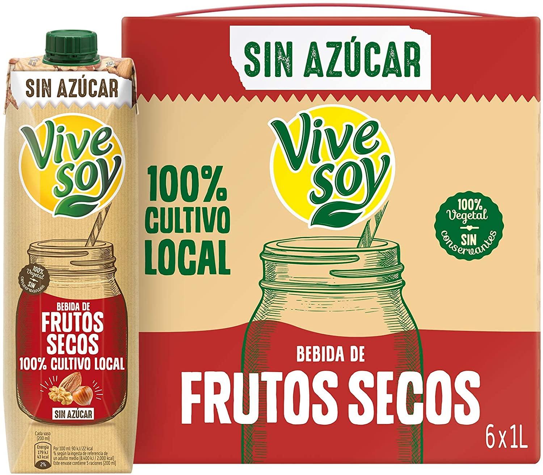 Vivesoy Bebida Frutos Secos sin Azúcar (pack de 6 x 1L) 1,06€ L. Temporalmente sin stock