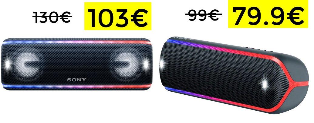 Sony SRS-XB41B bluetooth + NFC 103€