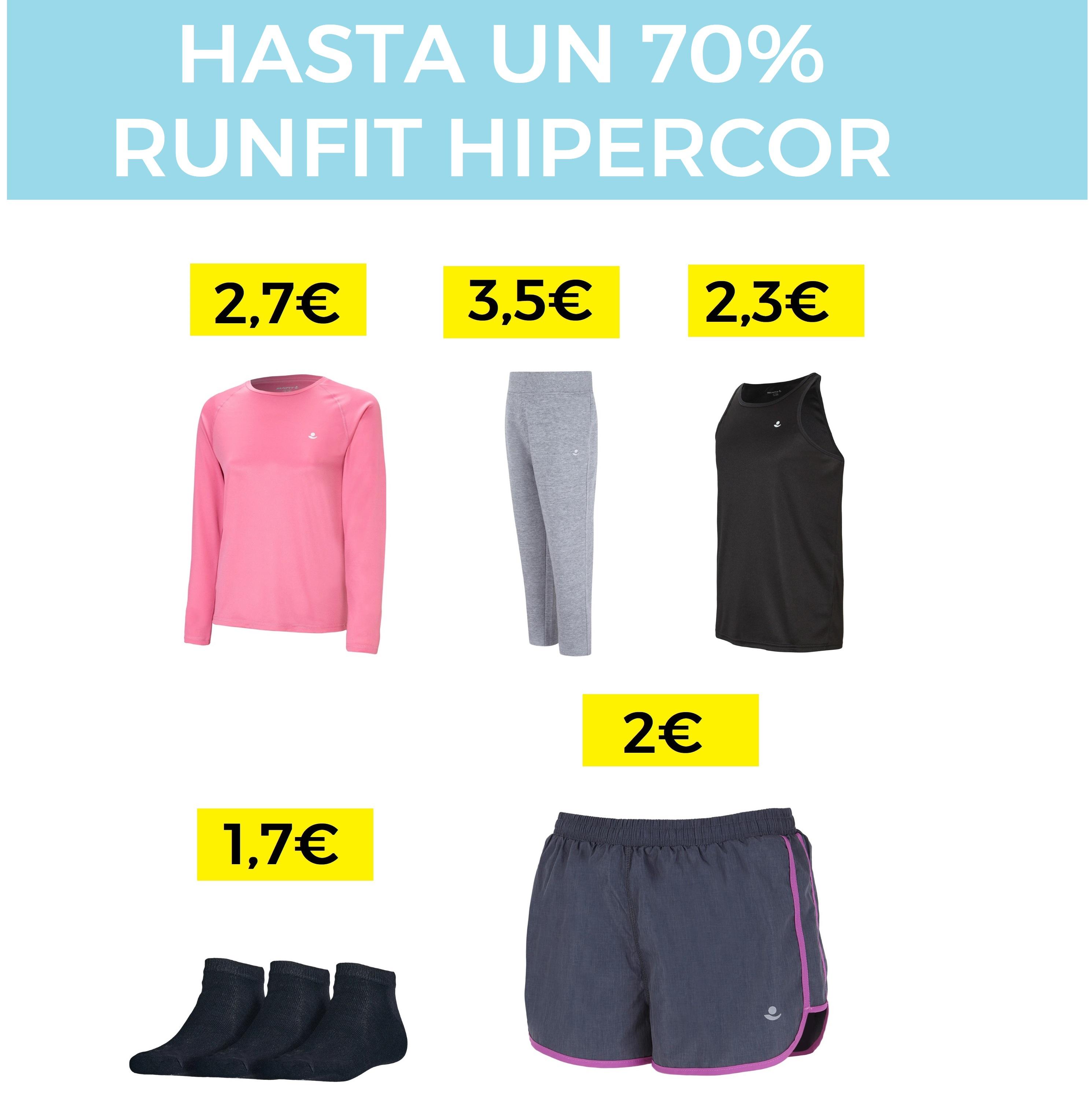 Chollazos en ropa deportiva Runfit desde 2€