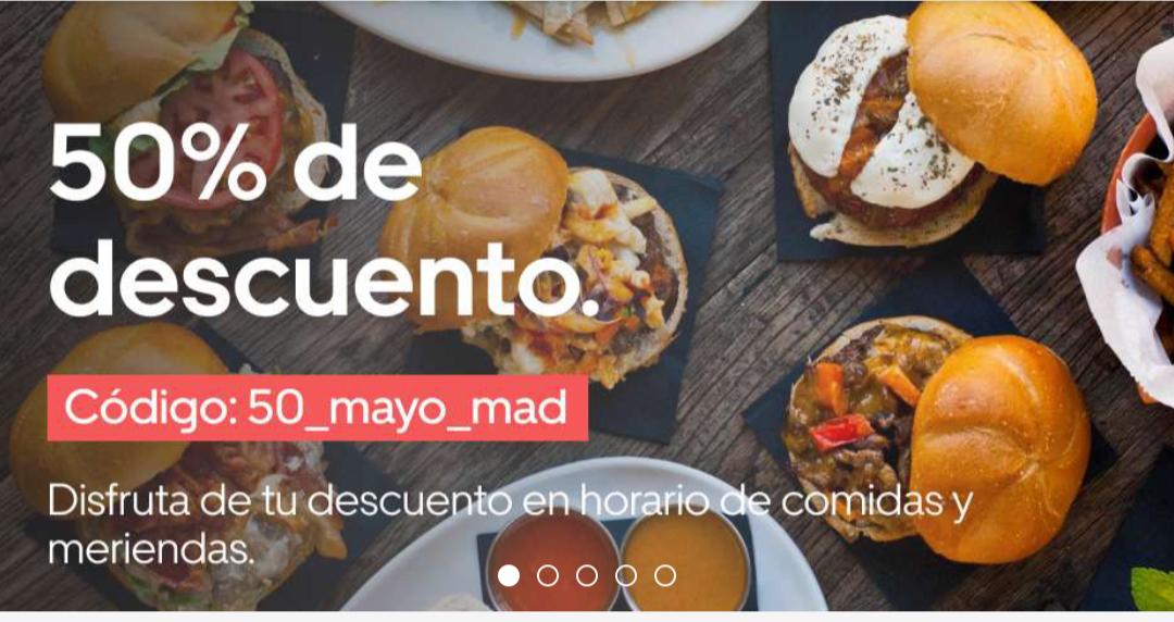 50% descuento uber eats (solo Madrid, puede que otras comunidades tengan algo parecido)