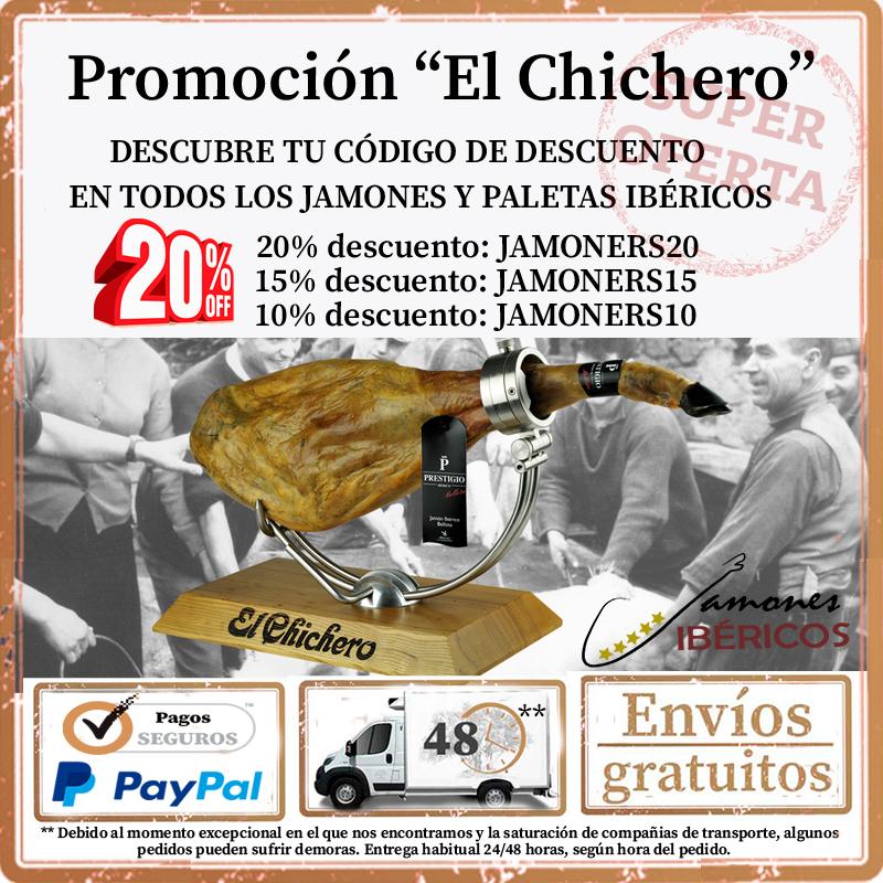 """PALETA CEBO DE CAMPO IBÉRICA + OTROS JAMONES Y PALETAS IBÉRICAS """"EL CHICHERO"""""""