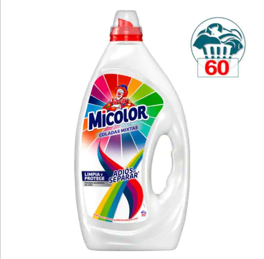 MICOLOR Detergente máquina líquido gel anti-transferencia de colores adiós al separar botella 60 dosis (2X1)