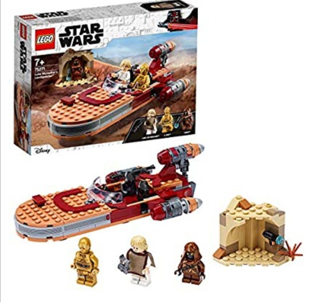 LEGO Star Wars - Speeder Terrestre de Luke Skywalker, Juguete de Construcción de la Película Guerra de las Galaxias
