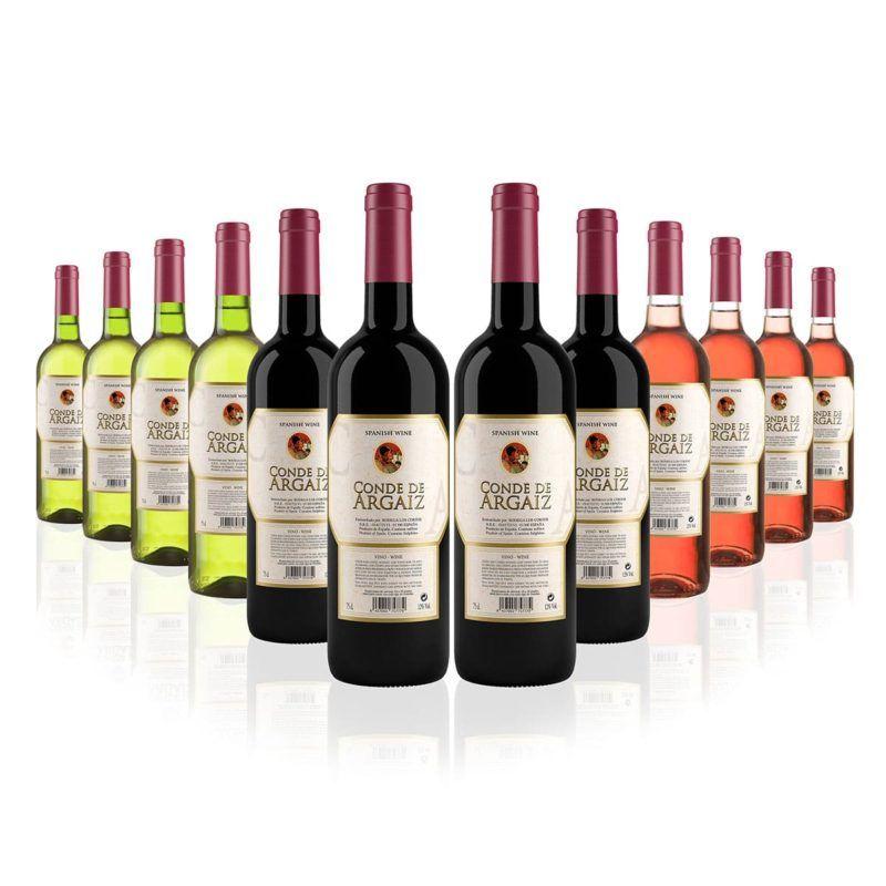 12 botellas de vino mixto, Conde de Argaiz