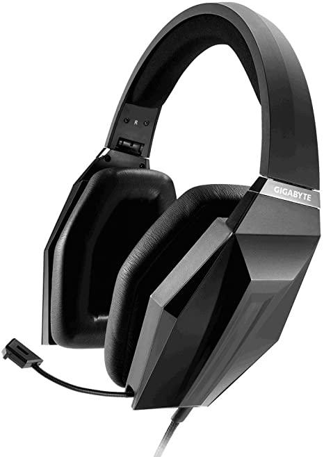 Gigabyte Force H7 Binaurale Diadema Negro Auricular Gaming con micrófono(PC/Juegos, 5.1 Canales, Binaurale, Diadema, Negro, Alámbrico)