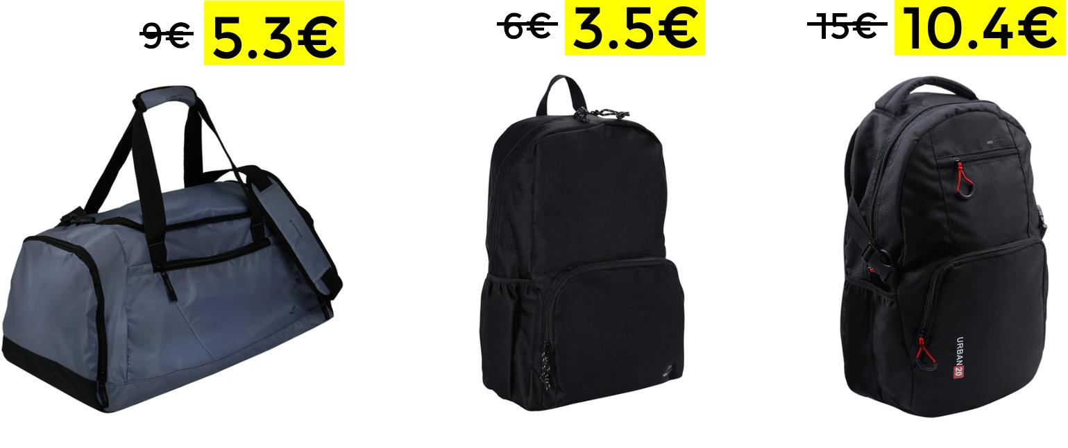 Descuentos en mochilas y bolsas deporte Runfit