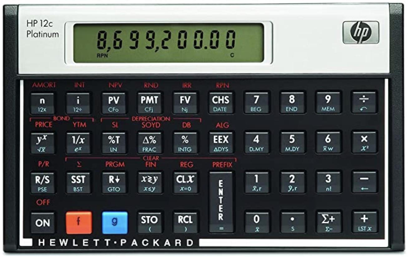 Calculadora Financiera HP 12C Platinum