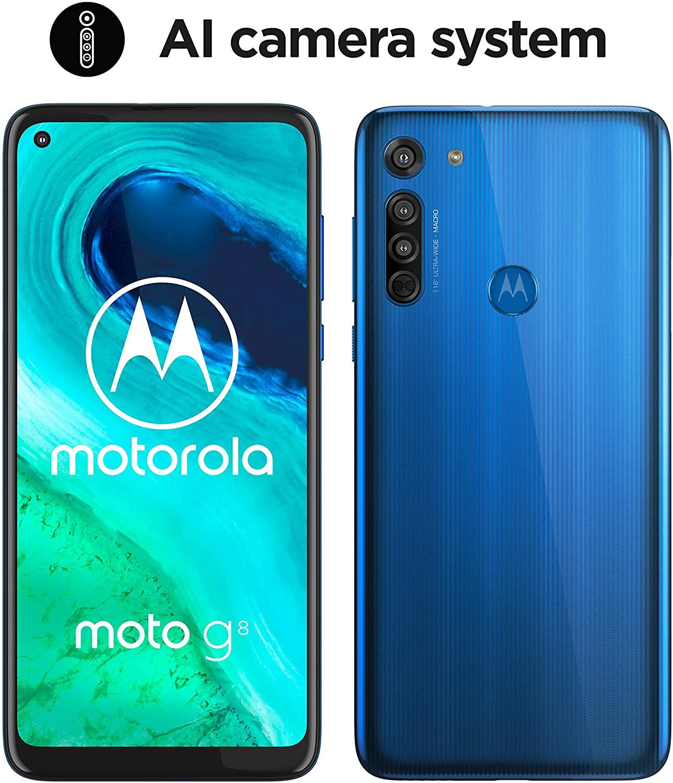 """Motorola Moto G8 (Pantalla de 6,4"""" HD+ o-notch, 4G, Qualcomm Snapdragon SD665) + código de sorteo portátil Lenovo"""