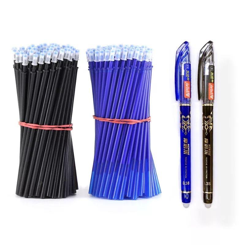 2 bolígrafos borrables de gel + 50 recambios