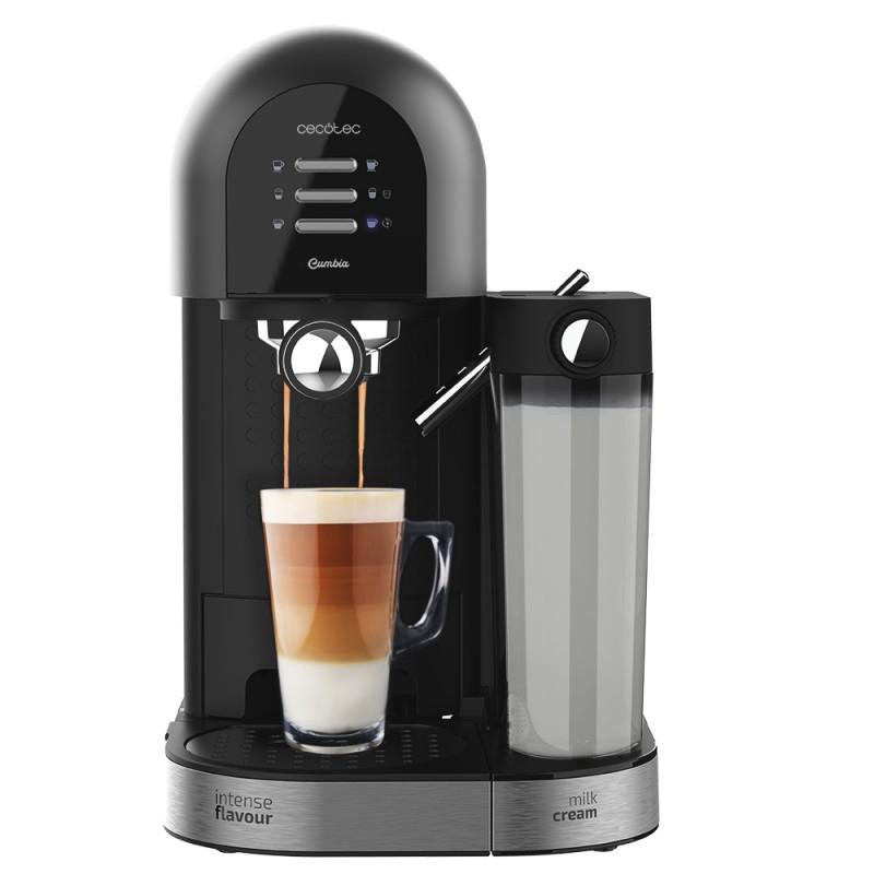 Cecotec Cafetera Power Instant-ccino 20 Chic Serie Nera. Café molido y cápsulas,