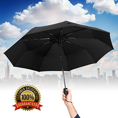 Paraguas de viaje plegable con apertura y cierre automático