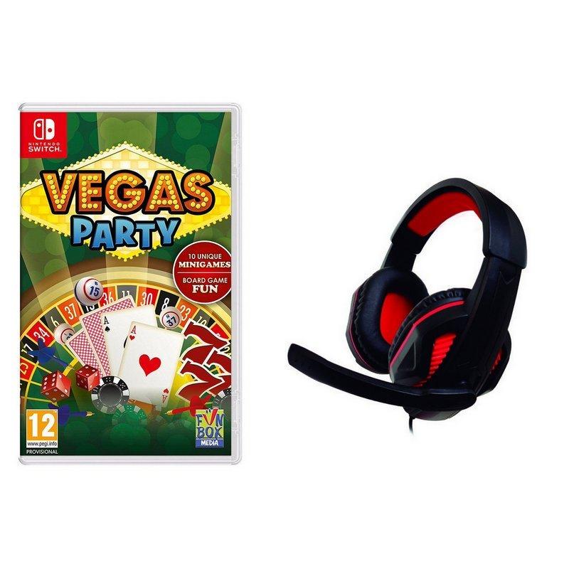 Vegas Party + Headset Gaming Nuwa Nintendo Switch