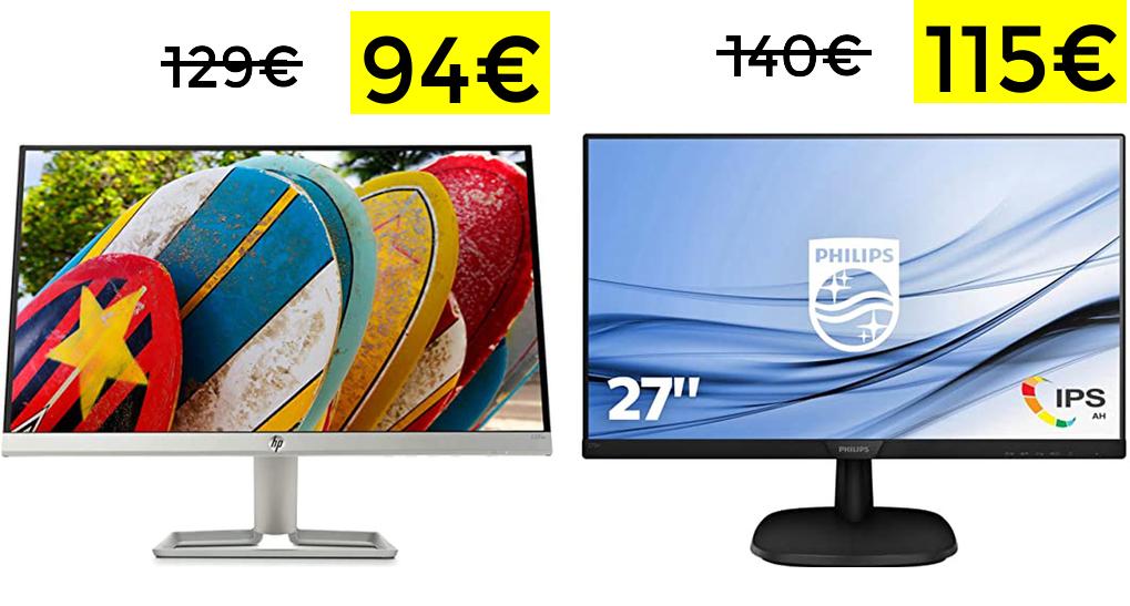 "Monitor 22"" FHD HP FreeSync solo 99€"
