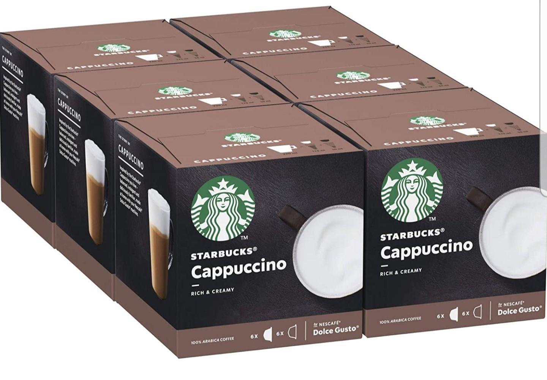 Cappuccino De Nescafe Dolce Gusto Cápsulas De Café, 6 X Caja De 6+6Unidades