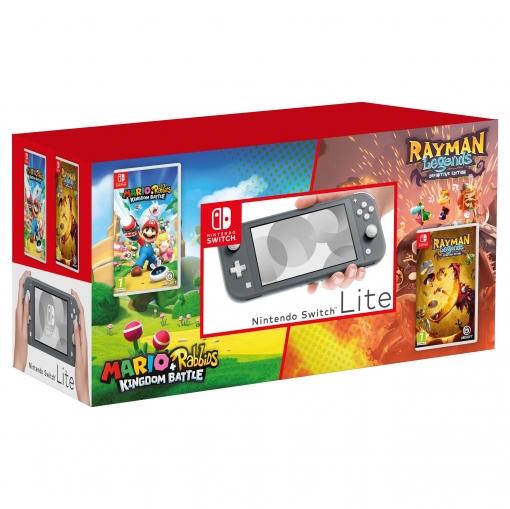 Nintendo Switch Lite Pack +Mario & Rabbids + Rayman Legends