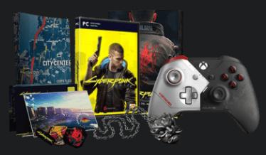 Cyberpunk 2077 Edición Day One + Mando Wireless Cyberpunk 2077 Edición Especial + Medallón