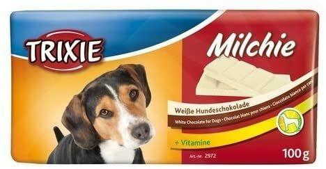 Golosinas para perros 20 envases de 100 grs. Tableta Chocolate blanco perros energia TRIXIE