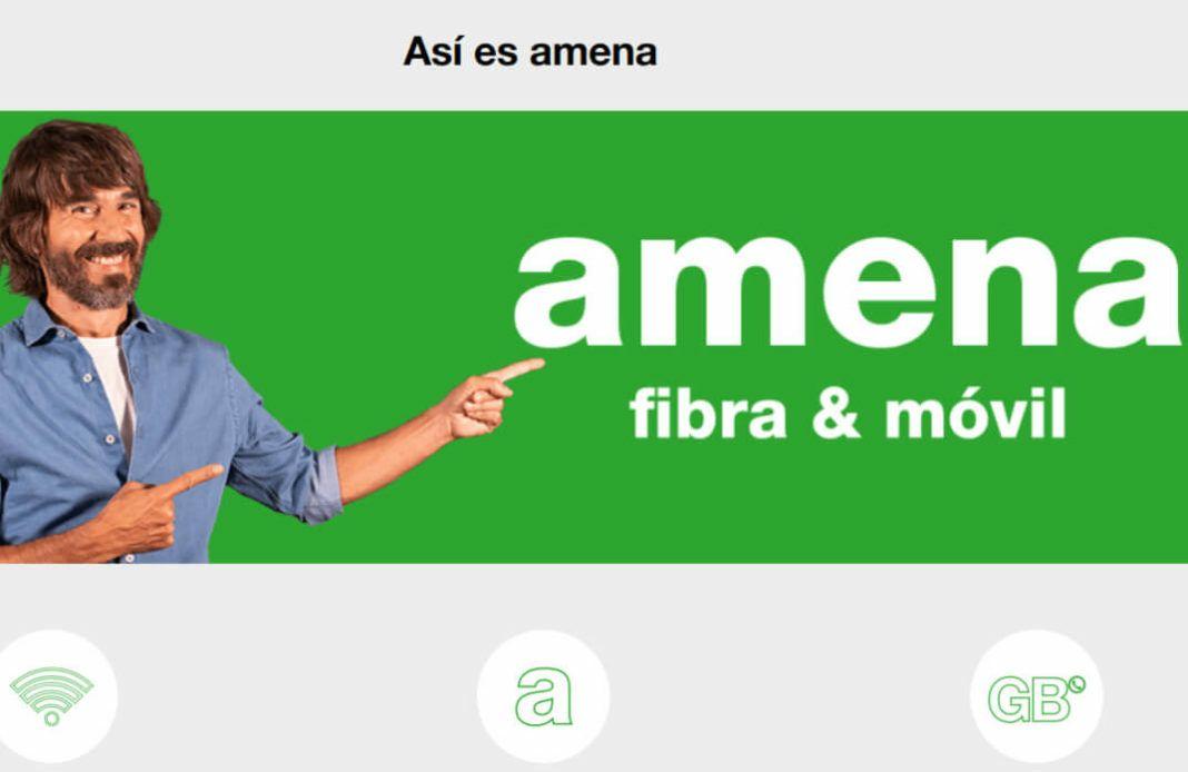Amena fibra 100Mbps, linea fija con llamadas ilimitadas a fijos y móvil con 20GB y llamadas ilimitadas por 35,95 euros al mes
