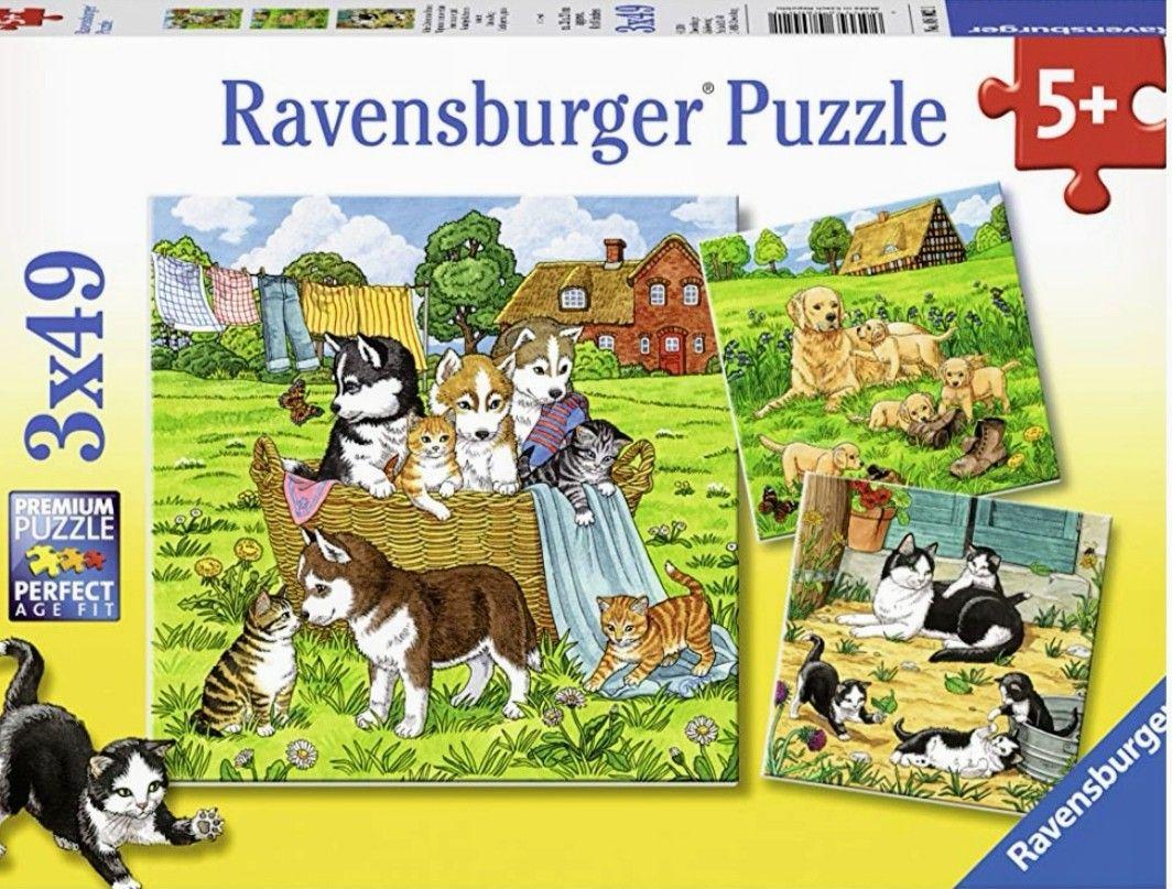Ravensburger - Pack de 3 puzzles x 49 piezas.