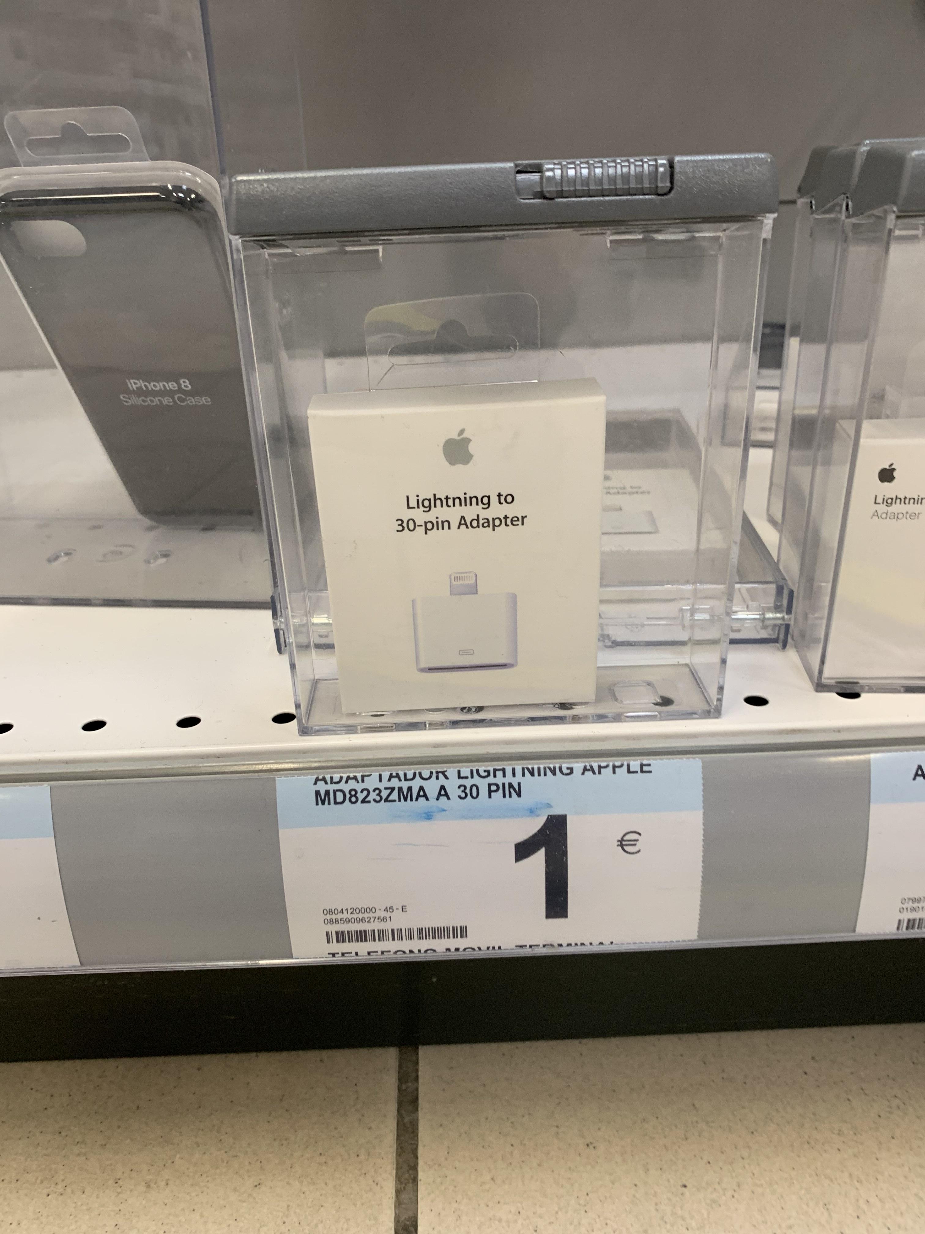 (Actualizado) Apple Adaptador 30-pin a Lightning (Carrefour Lorca, Murcia)