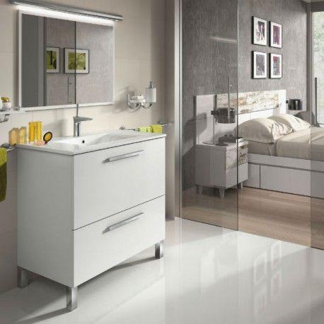 Mueble lacado de baño 80cm+ espejo
