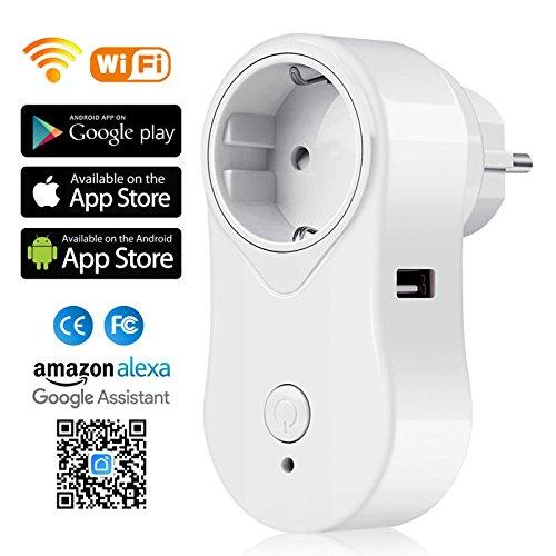 SIMBR - Enchufe Inteligente con USB - Funciona con Alexa y Google Home