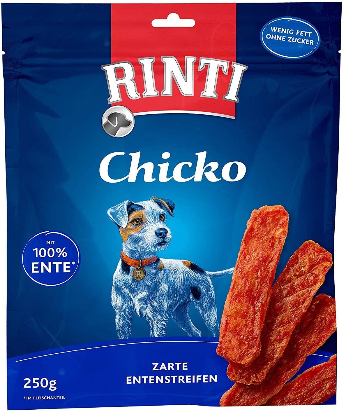 Rinti Chicko golosinas de pato para perros - PACK DE 3 (3x250g)