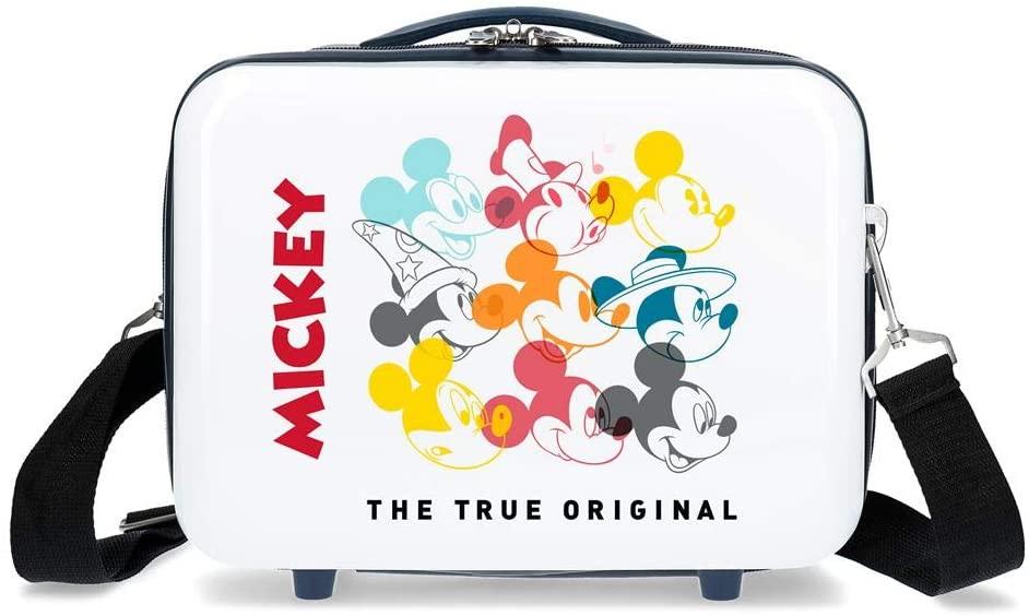 Neceser ABS Mickey Magic only one adaptable a trolley y Maleta de cabina rígida Mickey Magic caras.