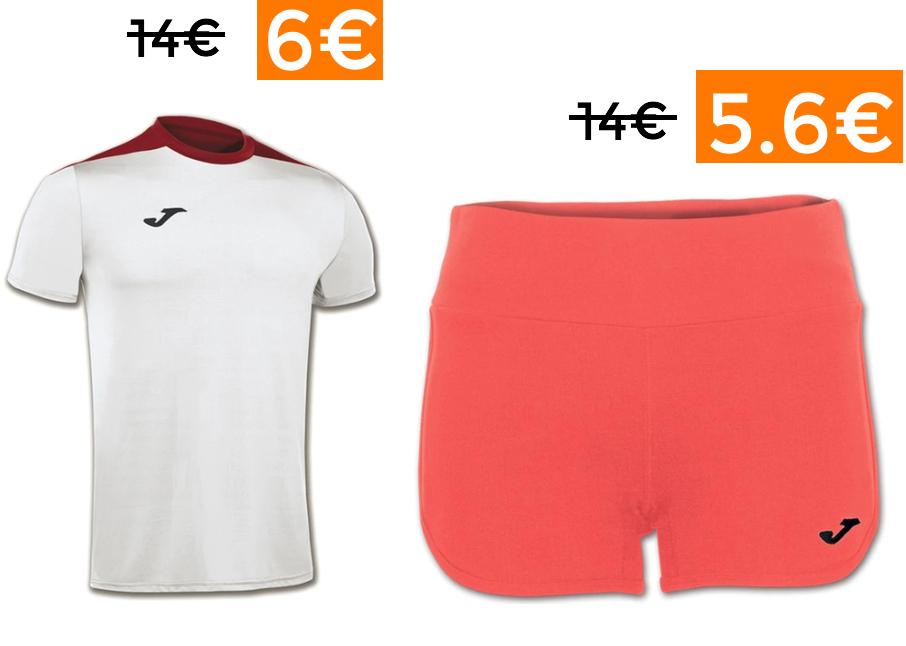 Preciazos en ropa deportiva JOMA