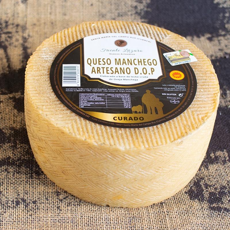 QUESO MANCHEGO ARTESANO DOP CURADO 3,2Kg (+ Otros quesos)