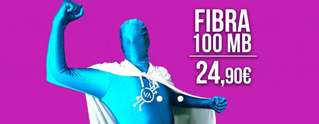 Fibra 100 Mb con Vallecas telecom