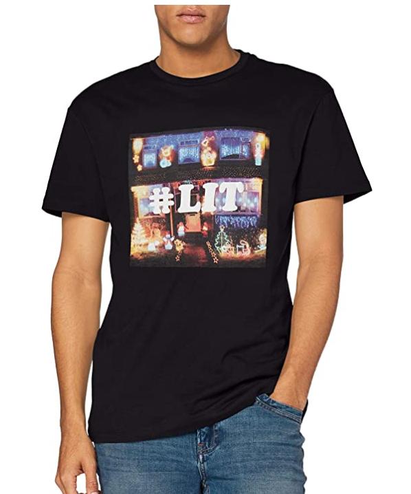 TALLA M - Jack & Jones Jorjustin SS tee Crew Neck Ka Camiseta para Hombre